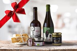 Banner menu cesti natalizi di prodotti tipici marchigiani