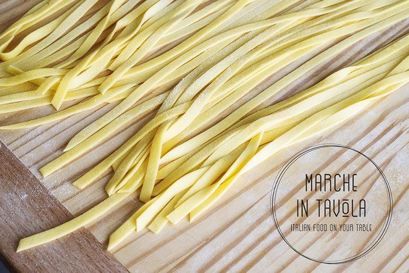 Tagliatelle al Tartufo estivo - essicazione della pasta
