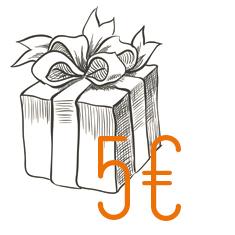 Regalo di 5 Euro per newsletter