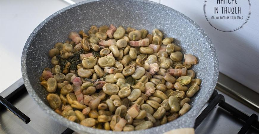 Le fave in porchetta | Ricetta tradizionale marchigiana